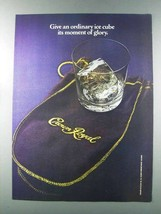 1981 Seagram's Crown Royal Whisky Ad - Moment of Glory - $14.99