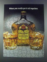 1981 Seagram's Crown Royal Whisky Ad - All Together - $14.99