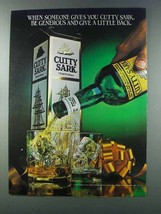 1981 Cutty Sark Scotch Ad - Be Generous Give Back - $14.99