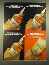 1975 Old Forester Whiskey Ad - Old Grand-Dad Ready For Retirement - $14.99