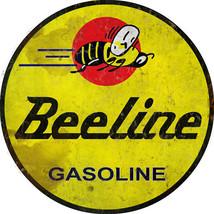 Round Beeline Gasoline Motor Oil Sign Garage Art - $25.74