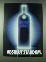 1989 Absolut Vodka Ad - Absolut Stardom - $14.99
