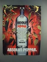 1996 Absolut Vodka - Absolut Peppar Ad - $14.99