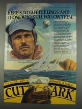 1982 Cutty Sark Scotch Ad - Ted Turner - $14.99