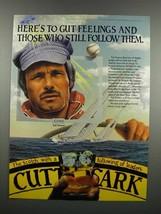 1983 Cutty Sark Scotch Ad - Ted Turner - $14.99