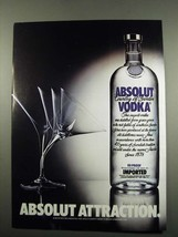 1984 Absolut Vodka Ad - Absolut Attraction - $14.99