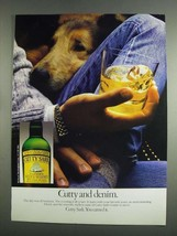 1984 Cutty Sark Scotch Ad - Cutty and Denim - $14.99
