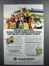 1978 Eastern Air Lines Ad, Walt Disney World Characters - $14.99