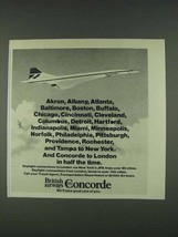 1978 British Airways Concorde Ad - Akron, Albany - $14.99