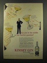 1947 Kinsey Gin Ad - The Martini Question - $14.99