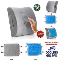 Lumbar Support Pillow Memory Foam Cooling Gel Pad Lower Back Pain Firm S... - $41.03