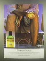 1985 Cutty Sark Scotch Ad - Cutty and Water - $14.99