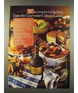 1986 Courvoisier Cognac Ad - A Trip for Two to Paris - $14.99