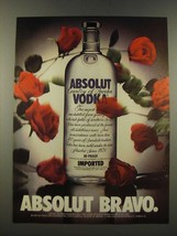 1986 Absolut Vodka Ad - Absolut Bravo - $14.99