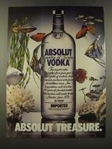1986 Absolut Vodka Ad - Absolut Treasure - $14.99