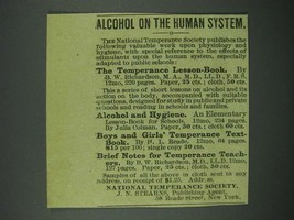 1884 National Temperance Society Ad - Alcohol on the Human System - $14.99