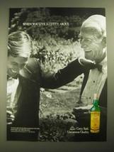 1987 Cutty Sark Scotch Ad - When You Live a Cutty Above - $14.99