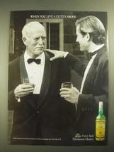 1987 Cutty Sark Scotch Ad - Live a Cutty Above - $14.99