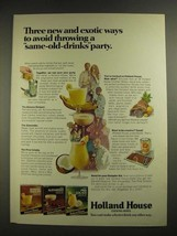 1971 Holland House Cocktail Mixes Ad - New and Exotic Ways - $14.99