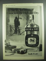 1975 High & Dry Gin Ad - Come In to The High and Dry - $14.99