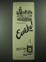 1977 High & Dry Gin Ad - Eureka - $14.99