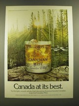 1976 Canadian Mist Whisky Ad - Canada At Best - $14.99