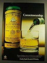 1979 Cutty Sark Scotch Ad - Connoisseurship - $14.99