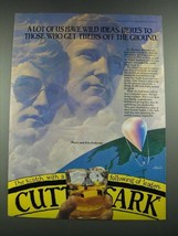 1981 Cutty Sark Scotch Ad - Maxie and Kris Anderson - $14.99
