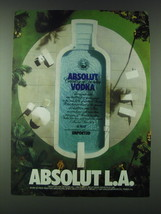 1989 Absolut Vodka Ad - Absolut L.A. - $14.99