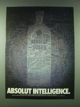 1989 Absolut Vodka Ad - Absolut Intelligence - $14.99