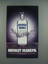 1996 Absolut Vodka - Absolut Marilyn Ad - $14.99