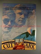1982 Cutty Sark Scotch Ad w/ Maxie & Kris Anderson!! - $14.99