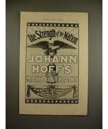 1897 Johann Hoff's Malt Extract Ad - Strength! - $14.99