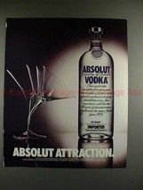1989 Absolut Vodka Ad - Absolut Attraction - Martini!! - $14.99