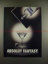2001 Absolut Vodka Ad - Absolut Fantasy - NICE!! - $14.99