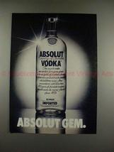 1982 Absolut Vodka Ad - Absolut Gem - NICE!! - $14.99