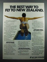 1978 Air New Zealand Ad - The Best Way to Fly - $14.99