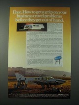 1978 Beechcraft Baron 58TC Plane Ad - Get A Grip on Business Travel Problems - $14.99