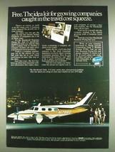 1978 Beechcraft Duke Plane Ad - Travel Cost Squeeze - $14.99