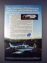 1978 Beechcraft Sierra Plane Ad - Challenge Thought - $14.99