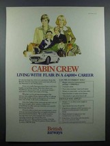 1978 British Airways Ad - Cabin Crew Living with Flair - $14.99