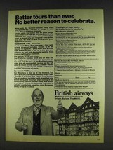 1978 British Airways Ad - Robert Morley - Better Tours - $14.99