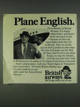 1978 British Airways Ad - Robert Morley - Plane English - $14.99