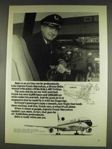 1978 Delta Airlines Ad - Captain Frank Moynahan - $14.99