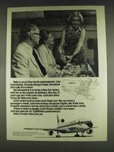 1978 Delta Airlines Ad - Carol Manos Flight Attendant - $14.99
