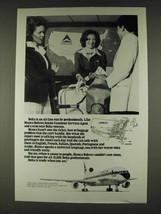 1978 Delta Airlines Ad - Bianca Bohrer Customer Service - $14.99