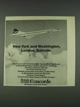 1978 British Airways Concorde Ad - New York - $14.99