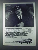 1981 Delta Airlines Ad - Curtis George, Captain - $14.99