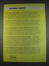 1982 Hughes Aircraft Ad - Pioneering Contributions - $14.99