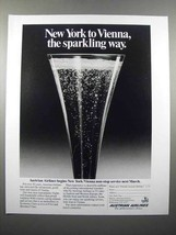1988 Austrian Airlines Ad - The Sparkling Way - $14.99